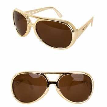 2x stuks gouden elvis verkleed bril