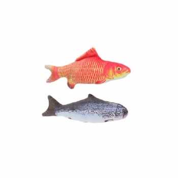 2x stuks kattenspeelgoed vissen kattenkruid/catnip 19 goudvis zalm