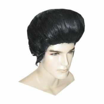 Elvis feest pruik zwart