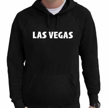 Las vegas/wereldstad hoodie zwart heren