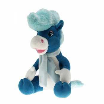 Pluche paard elvis blauw 40