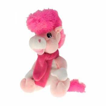Pluche paard elvis roze 40